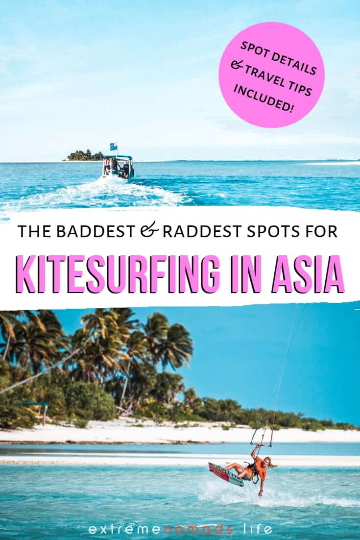 Kitesurfing in Asia is a must-do for any adventure traveler looking to experience the best of the region's adrenaline sports. Try kiteboarding at world renowned beaches in Vietnam or off-the-beaten path hideaways in Thailand. From spot details to seasons and conditions, this guide is sure to add a few items to your kitesurfing destinations bucket list! #asia #kitesurfing #kiteboarding #travel