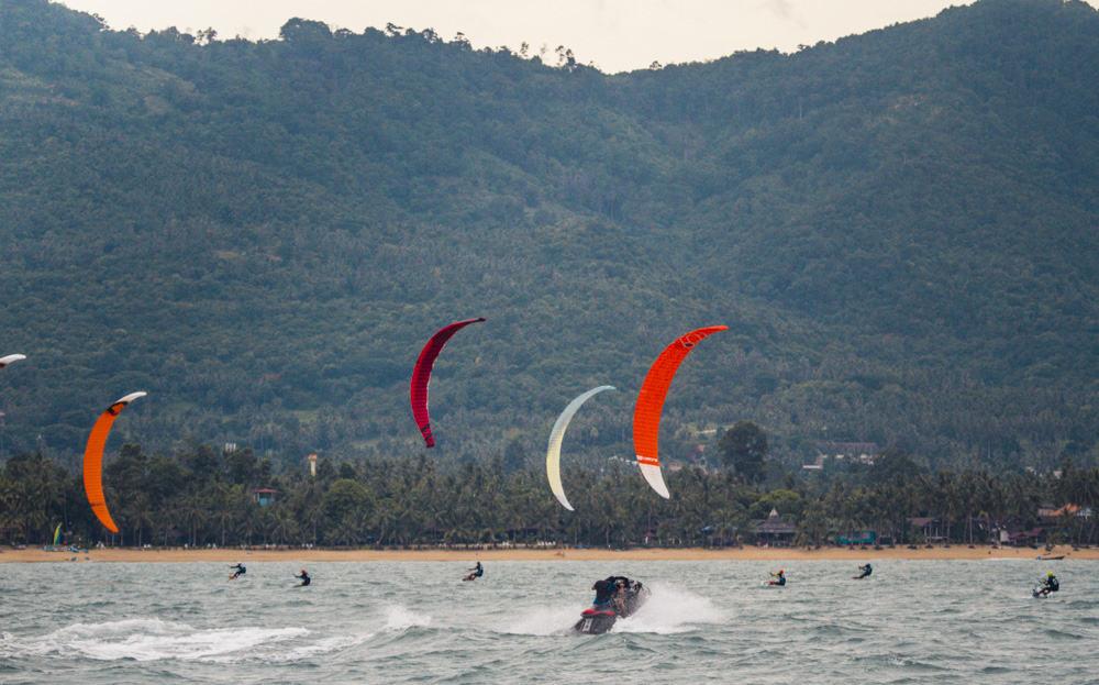 kitesurfing koh samui hydrofoil racing