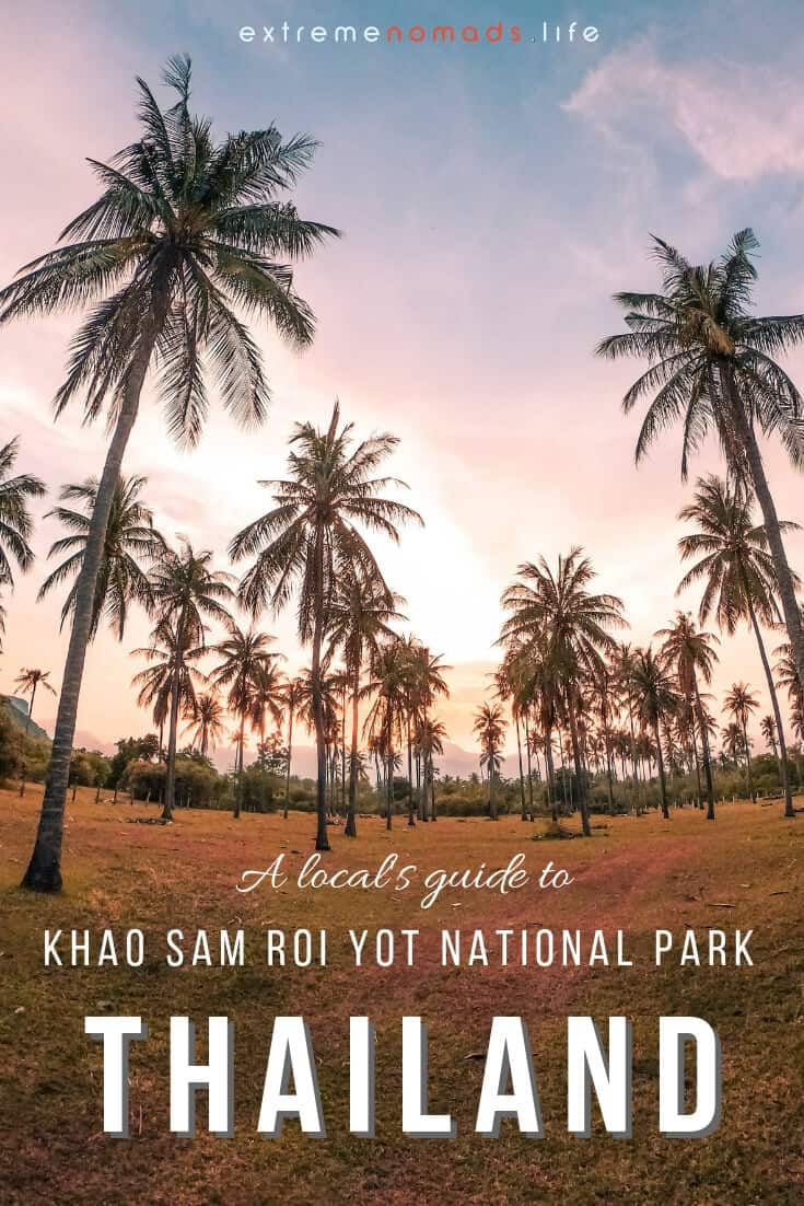 Khao Sam Roi Yot National Park is one of Thailand's most beautiful and least touristy destinations. Read about the best outdoor adventures in Sam Roi Yot, from hiking to Phraya Nakhon Cave to cycling over to the park from Pranburi Thailand. Plus, where to find the best of the Sam Roi Yot beaches! Click the link to read more. #thailand #travel #nationalpark