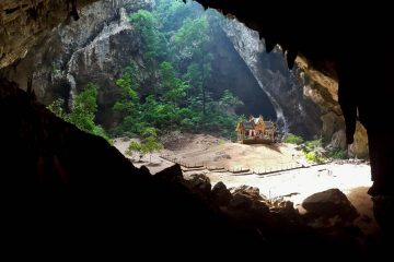 photo of the pavilion inside phraya nakhon cave