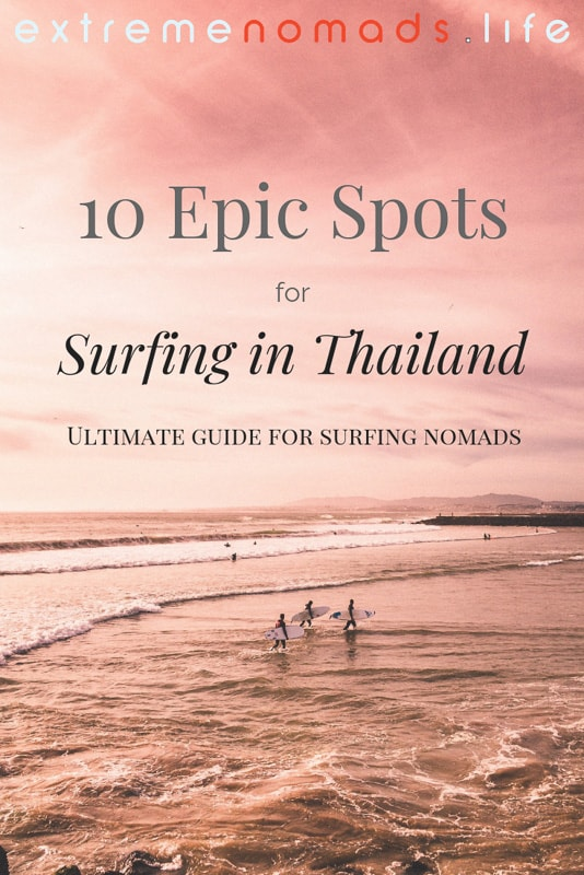 Ultimate guide to Surfing in Thailand: The surf in Thailand often gets overlooked, but in reality, your Thailand travel experience can become a real adventure when you chase the waves. Discover the top 10 Thailand surfing beaches and more by clicking the link! #ThailandSurfingParadise #BucketLists #ThailandTravel Surfing Thailand