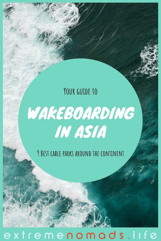 Your ultimate guide to wakeboarding in Asia! Discover 9 of Asia's best cable parks (hint, there's a TON in Thailand!) as well as the real reasons that wakeboarding in Asia should be on your bucket list.