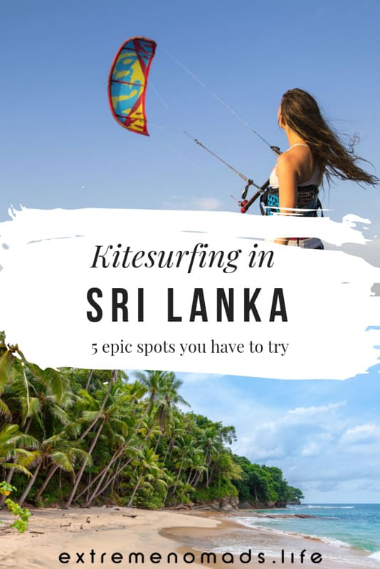 Kitesurfing in Sri Lanka is an adventure of legendary proportions. The flat water lagoons, the strong wind, the tropical weather... oh, and did we mention the RIDICULOUS adrenaline rush?! Learn how to kitesurf or progress your skills with the pros at these 5 epic spots for kitesurfing in Sri Lanka. #srilanka #kitesurfing #kiteboarding #adventuretravel #kalpitiya #mannar #vellaisland #kappalady #puttalam