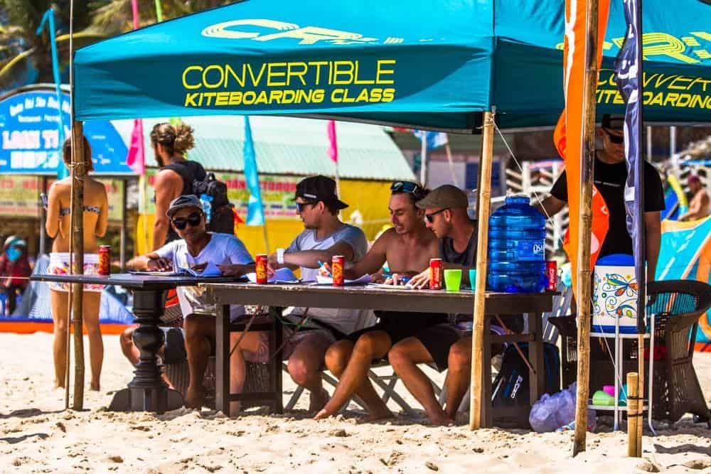 CR:X race tent on Mui Ne kitesurfing beach
