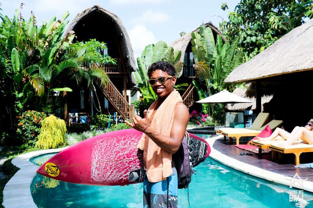 one of the guides at Surf WG Bali surf camp