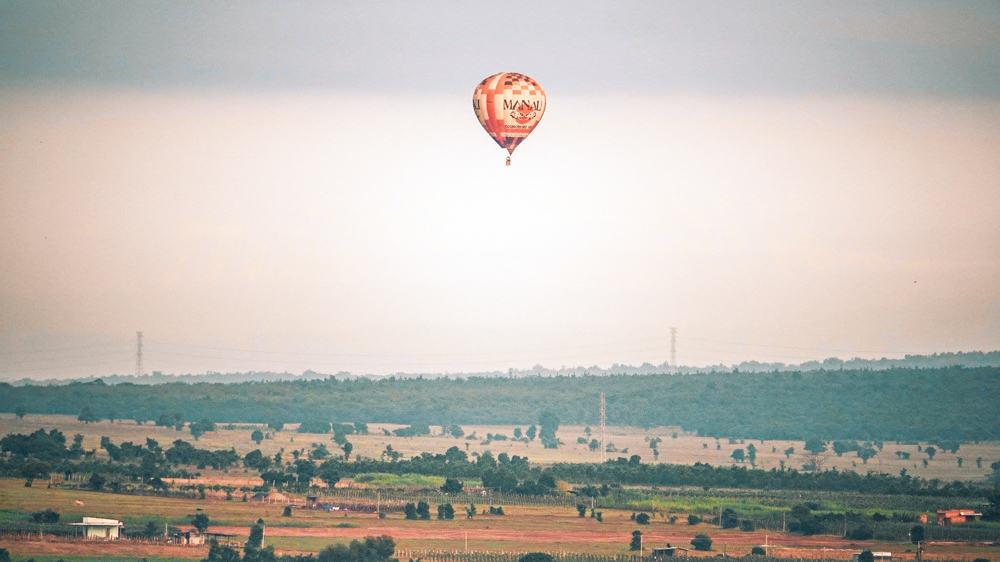 Hot air balloon over Mui Ne, Vietnam