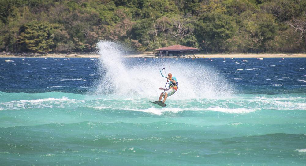 Daniel Meissner kiteboarding in Sibaltan, El Nido, Palawan, Philippines
