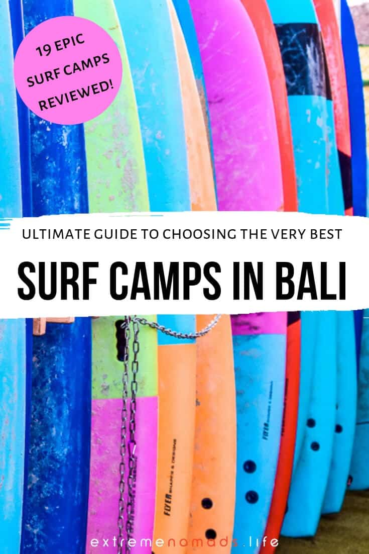 Ultimate guide Bali surf camps ~ The Bali surf scene is the stuff of legends, what with its year-round swell and tropical climate. But preparing for a Bali surf trip can be a HEADACHE, especially if you're also looking to sign up for a surf camp. Got ya covered, guys and gals! Our extensive review and handy comparison points will show you exactly how to make your Bali surfing experience an awesome one. #bali #asia #travel #surfing #adventure #surf