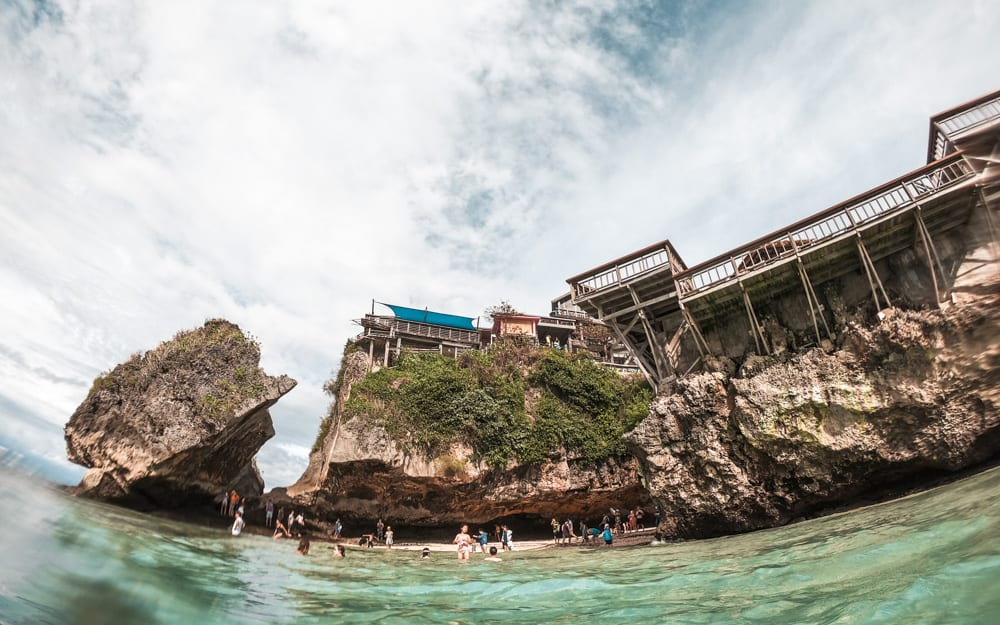 Uluwatu beach - one of the best surf spots in bali