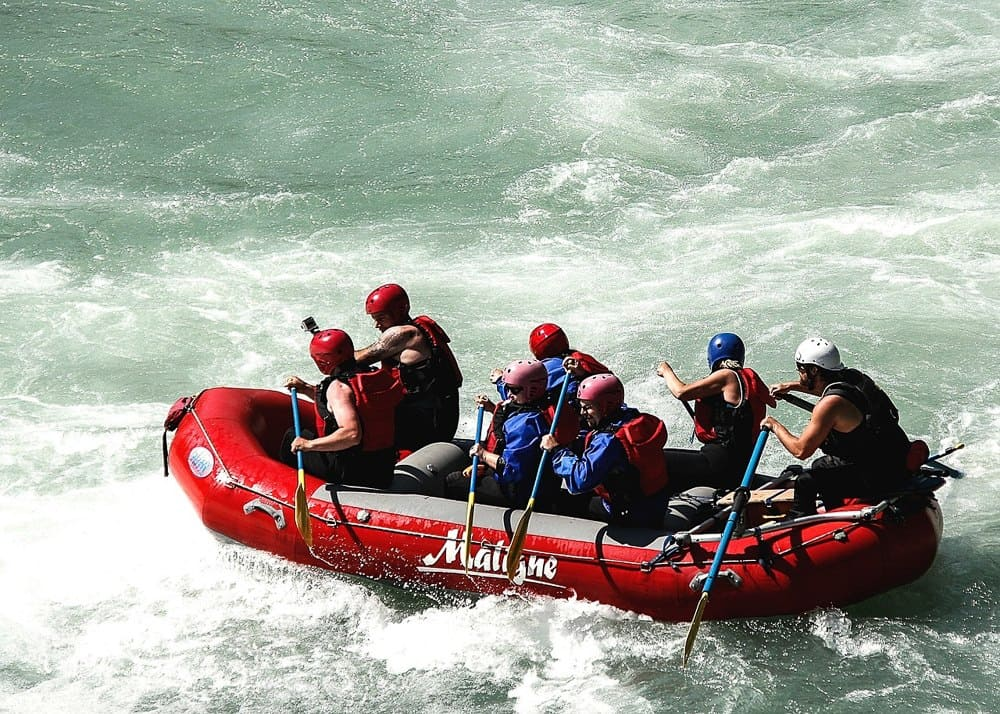 white water rafting in Taiwan