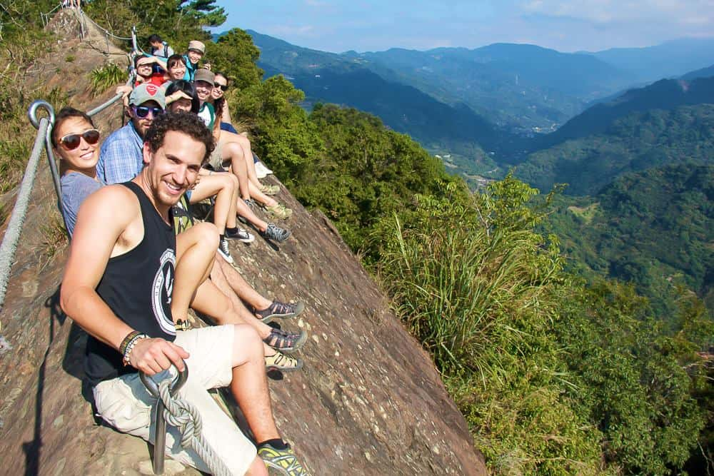 group of hikers in Taiwan