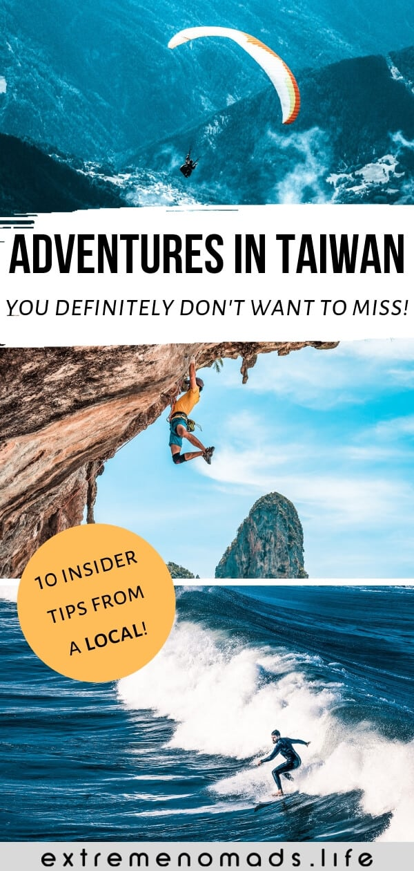 pinterest image featuring 3 pictures and caption- what to do in Taiwan'.