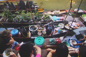 thailandia mercati galleggianti bangkok attività