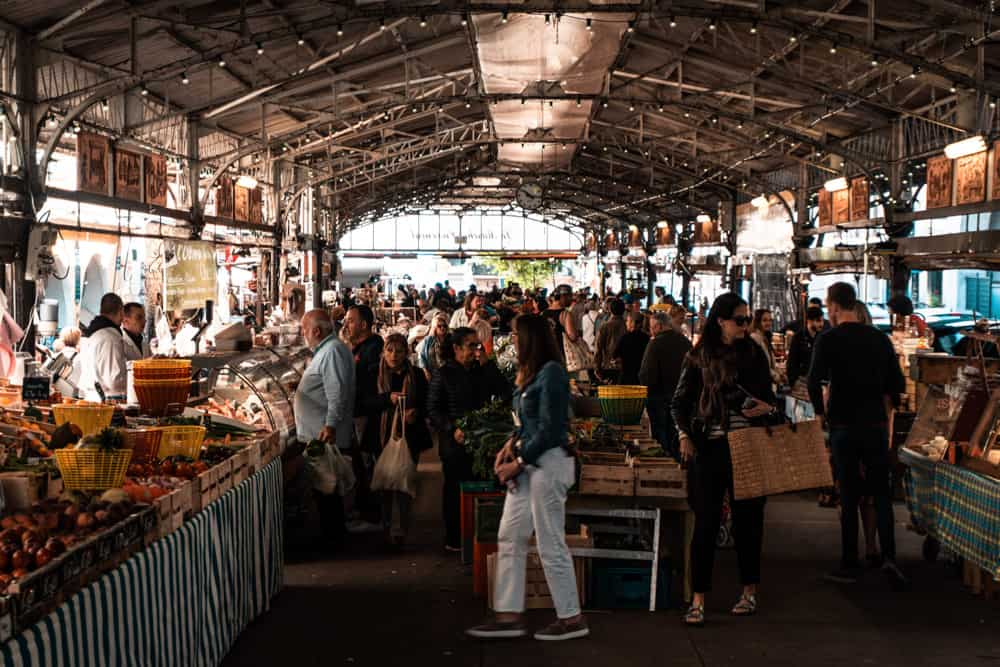 provencal market in antibes, france