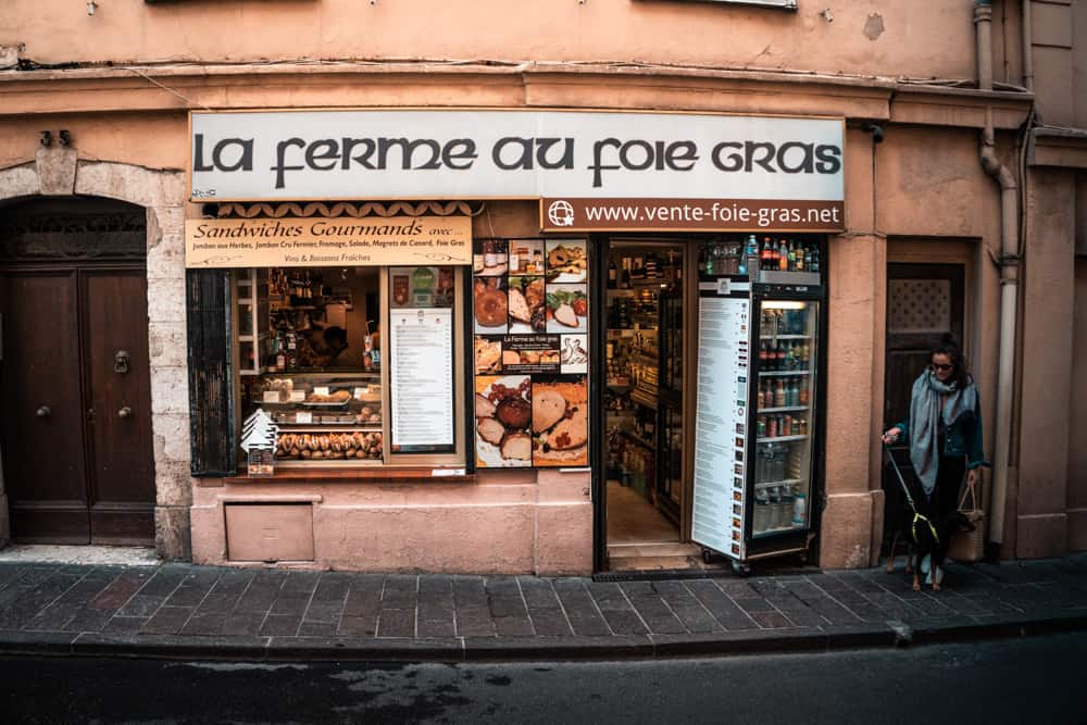 La ferme au Foie Gras sandwich shop in Antibes, France