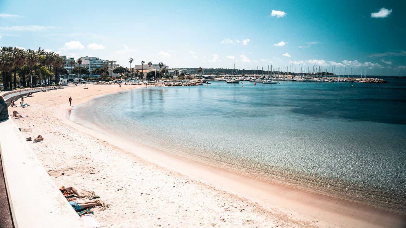 pointe croisette beach in cannes, france