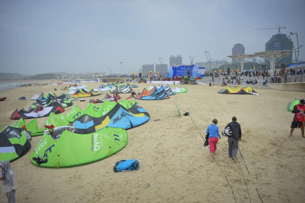 Pingtan kitesurfing beach, China