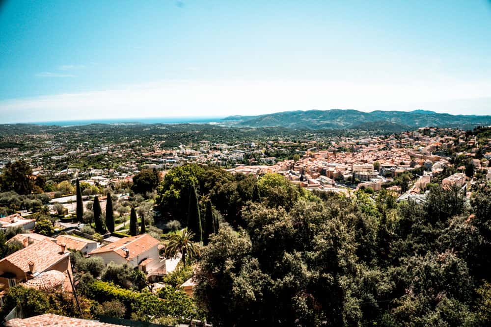 View of Grasse, South of France