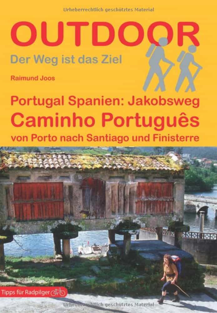 Cover of german guidebook on hiking the portuguese camino