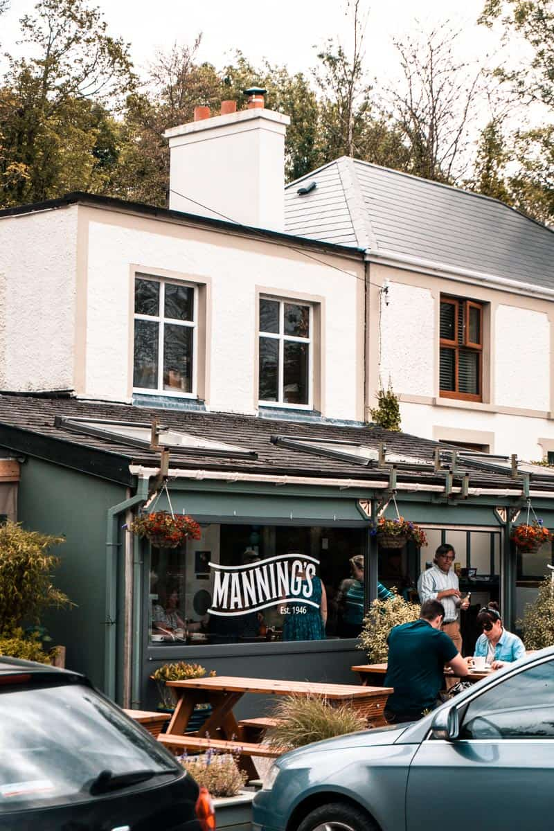 Outside seating area of Manning's cafe in bantry, co. cork.