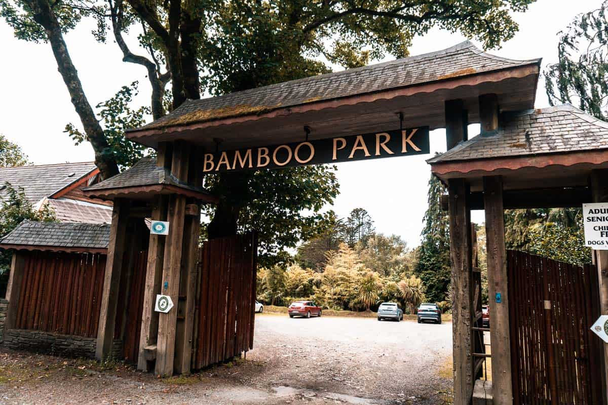 entrance of the bamboo park in glengarriff, west cork