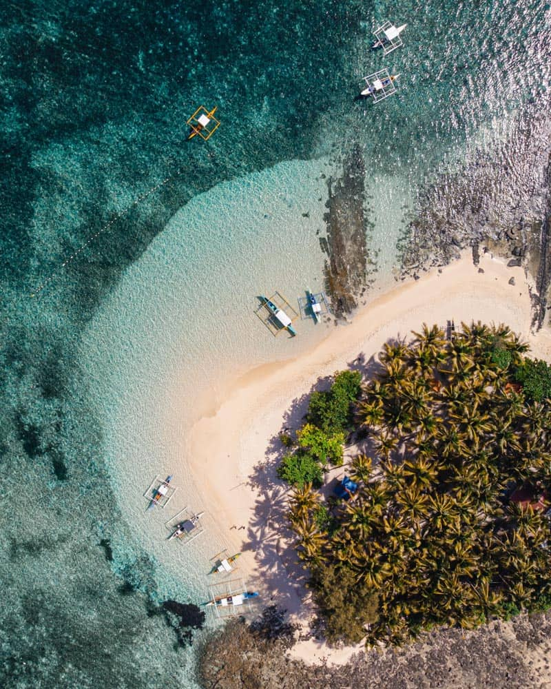 aerial view of guyam island, off the coast of siargao, philippines