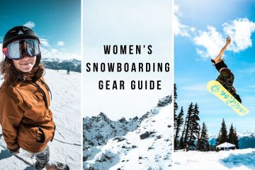 cover photo with three images: the first of grace wearing her women's snowboarding gear; the second of the snowy Alps; the third of a woman snowboarding.